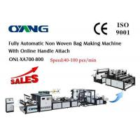 Muti - Functional PP Non Woven Fabric Bag Making Machine , T Shirt Bag Making Machine Manufactures