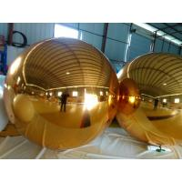 Customized Golden Inflatable Mirror Ball For Vocal Concert / Fashion Show Decoration Manufactures