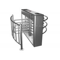 RFID Card Reader Fingerprint Turnstile Full Height 304 Stainless Steel Manufactures