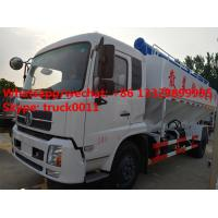 2018s best price 20m3 hydraulic poultry feed truck for sale, factory sale dongfeng LHD/RHD 10tons hydraulic feed truck Manufactures