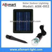 Quality 2000mAH Li-ion Battery 20led Single Bulb Solar Powered Indoor Lighting DC System for sale