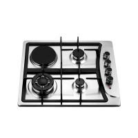 Stainless Steel Gas And Electric Hob With 3 Burners And 1 Hotplate 580x500mm Manufactures