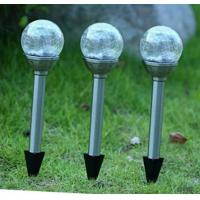 Beautiful Solar Ball Lights / Solar Crackle Glass Ball Lights With Changing Color LED Manufactures