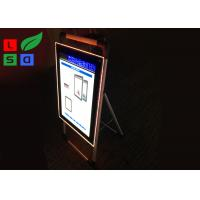 Quality Single Sided Trade Show Displays LED Poster Display Aluminum Structure For Free Standing for sale