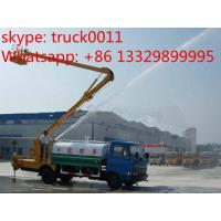 dongfeng brand high altitude operation truck with water tanker, hot sale hydraulic bucket truck with water tank Manufactures