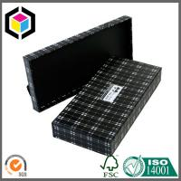 Matte Black White Stripes Rigid Chipboard Paper Box; Cosmetics Gift Packaging Box Manufactures