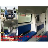 Quality 2017s high quality and low price FORD 4*2 LHD Transit gasoline Engine Ambulance car for sale, ambulance vehicle for sale