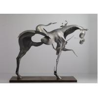 170cm Life Size Abstract Stainless Steel Horse Sculpture Brushed Finishing Manufactures