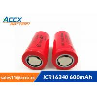 Quality 16340HP 600mAh 16340 3.7V li-ion battery 10-20C high rate power battery for electric toys, eircraft, for sale