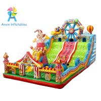 New design Ferris wheel and clown giant children Inflatable bouncer playground Manufactures