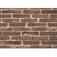 Moisture Proof 3d Brick Effect Wallpaper Waterproof Vinyl Wall Covering Size 0.53*10m Manufactures