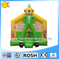 OEM Clown Inflatable Combo Bouncers Commercial Jumping Castle Green Yellow Manufactures
