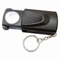 Multi-function Push and Pull Magnifier with LED Light and Keychain, Used for Currency Detecting Manufactures