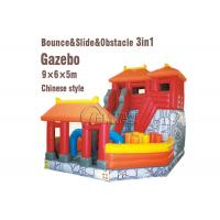 Playground Combo Inflatable Slide Inflatable Jumping Bouncy Castle With Slide Manufactures