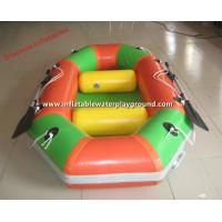 Commercial Grade Inflatable Whitewater Raft Boat With Oar , Lightweight Manufactures