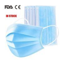 Latex Free 3 Ply Disposable Face Mask , Non Woven Fabric Mask CE FDA Certificated Manufactures