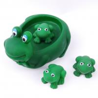Eco Friendly Rubber Bath Toys For Toddlers , Rubber Frog Bath Toys 15cm Height Manufactures