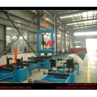 Automatic H Beam Assembly Machine With Two Sets Of Co2 Tack Welding 2000mm Web Height Manufactures