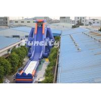 Giant Customized 0.55 Mm Pvc Tarpaulin Inflatable Water Slide 50*14*13 m H Manufactures