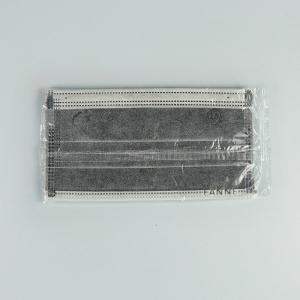 Adult Active Carbon Non Woven 17.5*9.5cm Face Masks 4 Layers Grey Manufactures