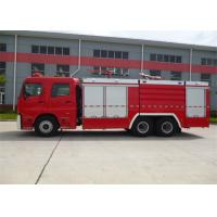 Diesel Fuel Vacuum Tanker Fire Truck 6350mm Wheelbase With Rear Mounted Pump Manufactures