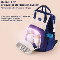 Waterproof Travel LED UV Baby Disinfection Diaper Bag Manufactures