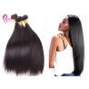 #1B Color 100 Virgin Straight Brazilian Hair Weave Bundles No Smell Manufactures