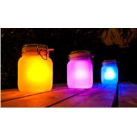 Frosted Glass Landscape Solar Lights Outdoor Jam Jar Solar Lights For Decorative Manufactures