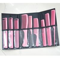 Professional Cutting Hair Stylist Combs Set with Man-made Leather Pouch Manufactures