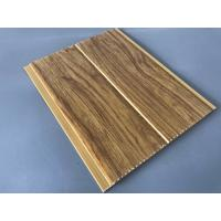5mm Thickness Ceiling PVC Panels For Kitchen Two Golden Line Wooden Color Manufactures