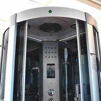 Quality Indoor Glass Sauna Steam Shower Enclosure Unit , One Person Steam Shower Stall for sale