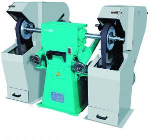 China Abrasive Sanding Belts Automatic Polishing Machine , Belt Polishing Machine Sanitary Industry 370kg on sale