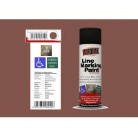 AEROPAK 500ML mission brown color Line Marking Spray Paint for road with SGS Manufactures