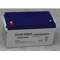 Black Deep Cycle Solar Lead Acid Battery 12v 80ah Lightweight Manufactures