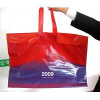 Quality Custom Printed Large Plastic Shopping Bags with Rope Handles / Button for sale