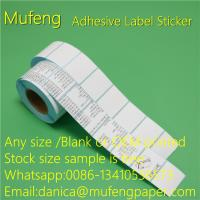 Buy cheap Waterproof Adhesive Sticker Roll Heat Sensitive 60mm*44mm Size Eco - Friendly from wholesalers