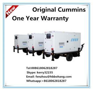 Cummins 70KVA trailer mounted silent diesel generator set 60Hz Manufactures