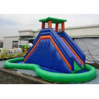 Quality Double Inflatable Water Slide Among Pool PVC Tarpaulin Material Water Park Slide for sale