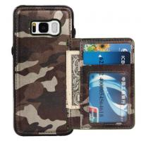 Camouflage Samsung S8 Plus Wallet Case , Back Cover Custom Leather Phone Cases Manufactures