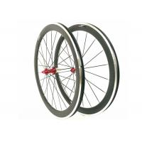 20 / 24H 700C Carbon Alloy Wheels 50MM Clincher 23MM Width For Road Bike Manufactures