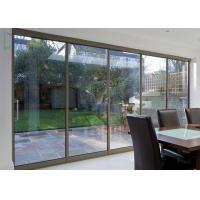 American Thermal Break Residential Aluminium Sliding Doors With Security Wire Mesh Manufactures