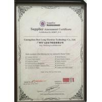 GUANGZHOU BESTLONG ELECTRON TECHNOLOGY CO.,LTD Certifications