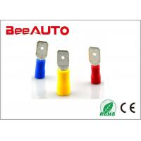 Male MDD Insulated Spade Terminals Tin Plated Brass 0.5-  1.5mm2 Different Size Manufactures
