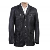Custom Western Luxury, Casual jackets , Black Fashionable Mens Leather Blazers Manufactures