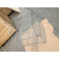 20L Basket Supermarket Equipment Zinc Plated Cage With Clear Lacquer Manufactures