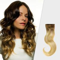 China Professional Black To Blonde Ombre Hair Extensions , No Tang No Mixture Ombre Weft Hair Extensions on sale