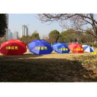 Polyester Fabric Outdoor Sun Umbrellas Customized Logo For Commercial Street Manufactures