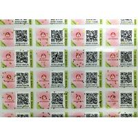 Glossy Varnish Hologram Security Stickers / A4 Paper Barcode Sticker Manufactures