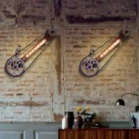 Loft Industrial Wall Lamps for home Vintage Bedside Wall Light Bicycle wheel Shade E27 Edison Bulbs Light For Indroor Manufactures