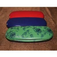 Fashion Abs Plastic Kids Eyeglass Case Lightweight Black / Red With Velvet Lining Manufactures
